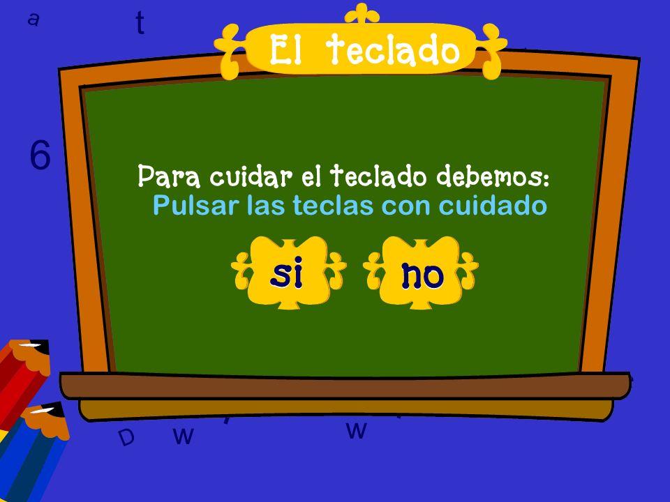 a c t 6 9 l D a c t w A 6 9 D T l w l w c 6 preguntas El teclado -