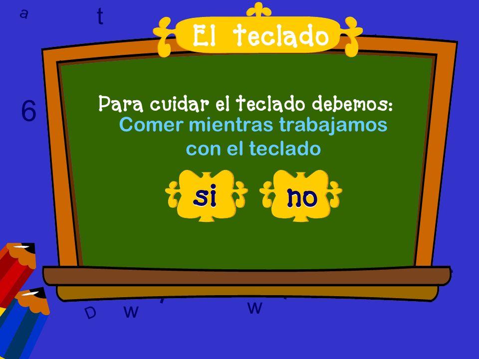 a c t 6 9 l D a c t w A 6 9 D T l w l w c 6 correcto, esa es la respuesta El teclado - FELICIDADES