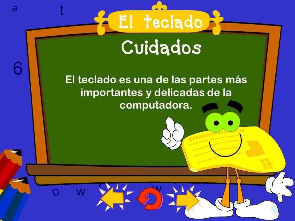 a c t w 6 9 l D a c t w A T 6 9 D A T l w l w c 6 9 Cuidados El teclado es una de las partes más importantes y delicadas de la computadora.