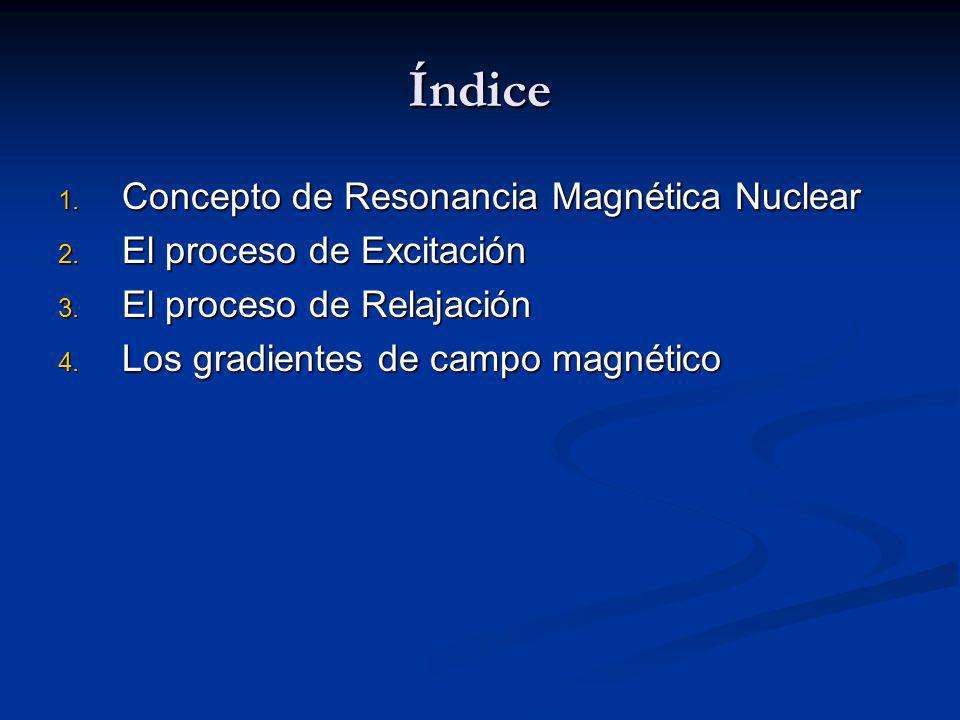 Relajación: Simulación por ordenador Trayectoria simulada por ordenador de la magnetización resultante durante la fase de relajación tras la aplicación de un pulso de excitación de RF de 45º y 90º en un campo magnético de 1T.