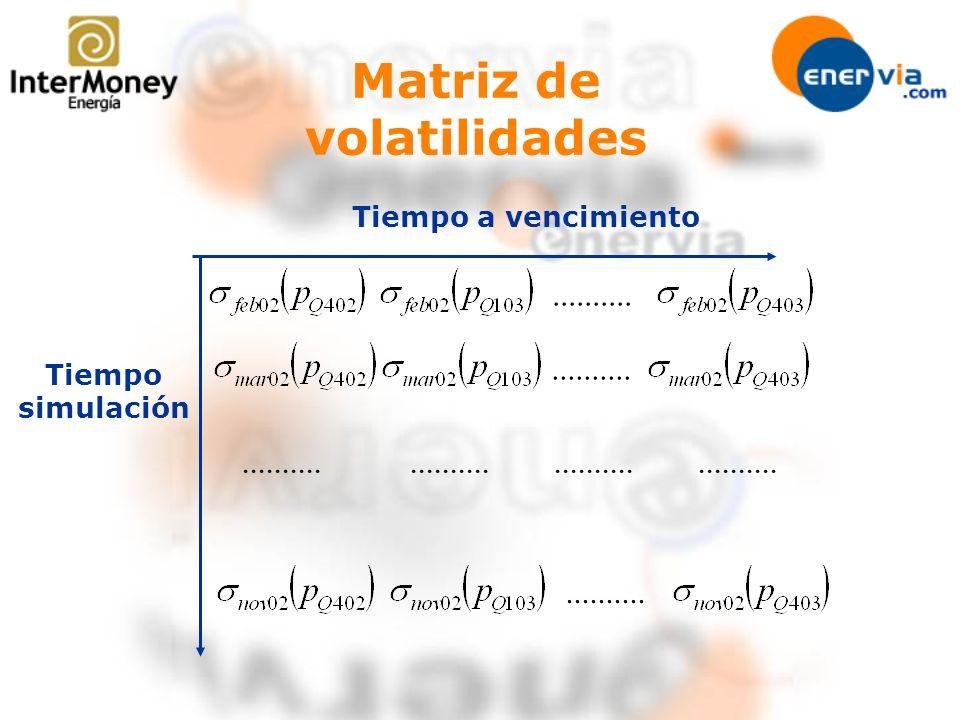 Matriz de volatilidades Tiempo a vencimiento Tiempo simulación..........