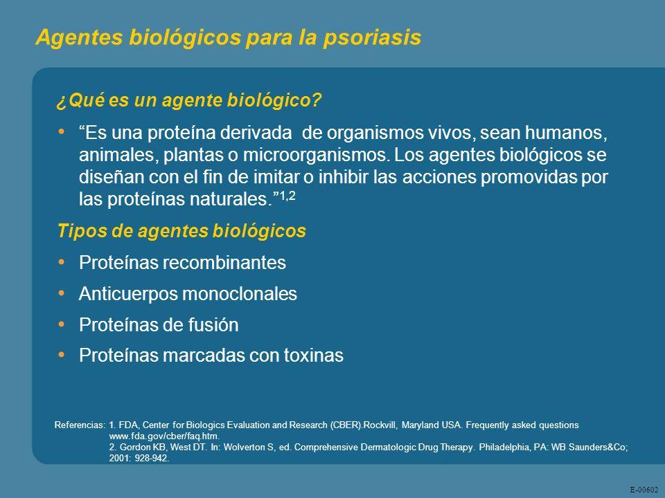 E - 00602 ¿Qué es un agente biológico? Es una proteína derivada de organismos vivos, sean humanos, animales, plantas o microorganismos. Los agentes bi