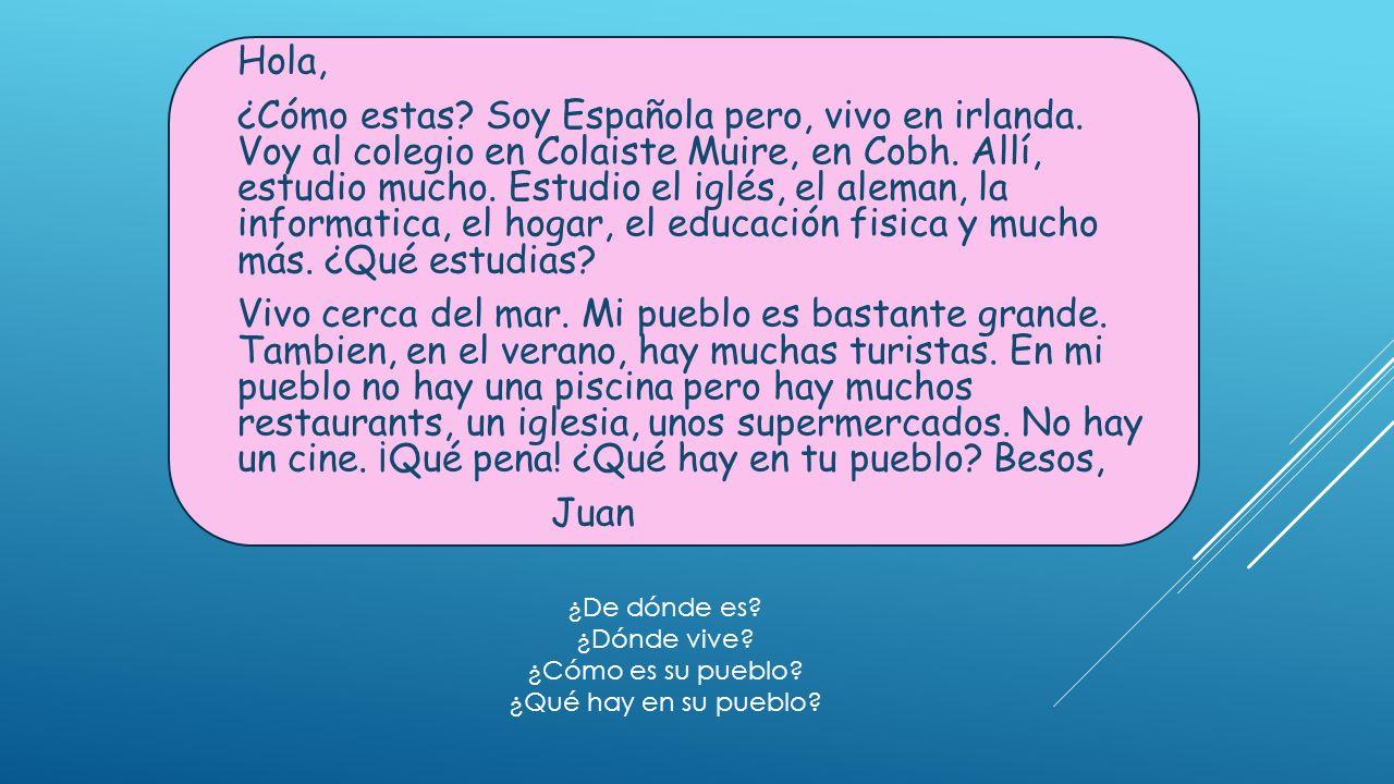 EN MI PUEBLO – REPLACE THE PICTURES WITH THE SPANISH. 1. En mi pueblo hay y. 2. En mi ciudad hay y.