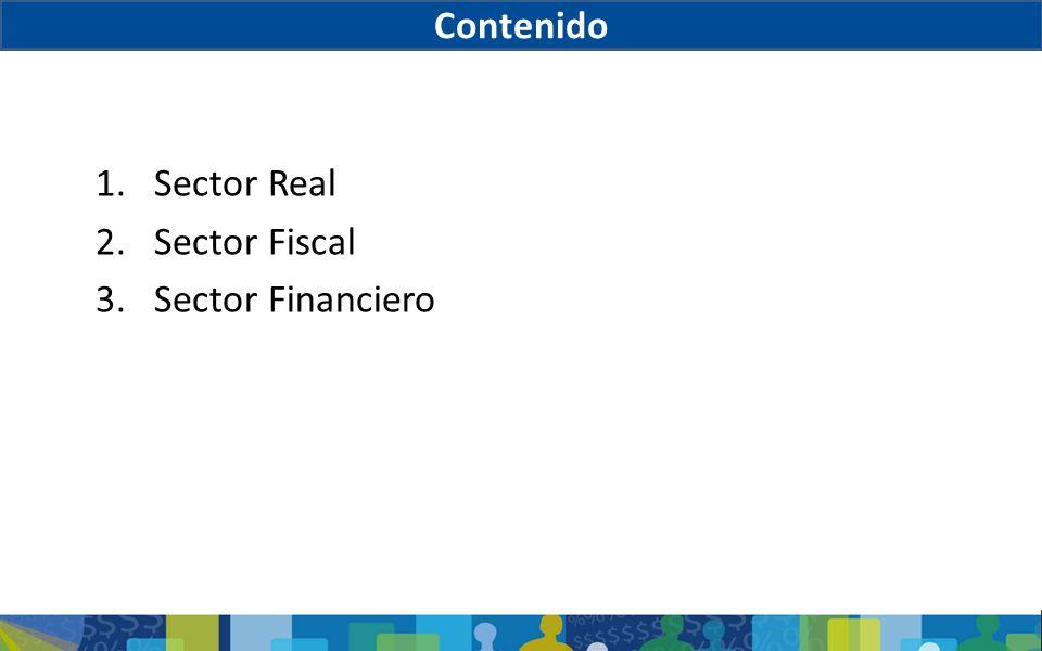 1.Sector Real 2.Sector Fiscal 3.Sector Financiero Contenido