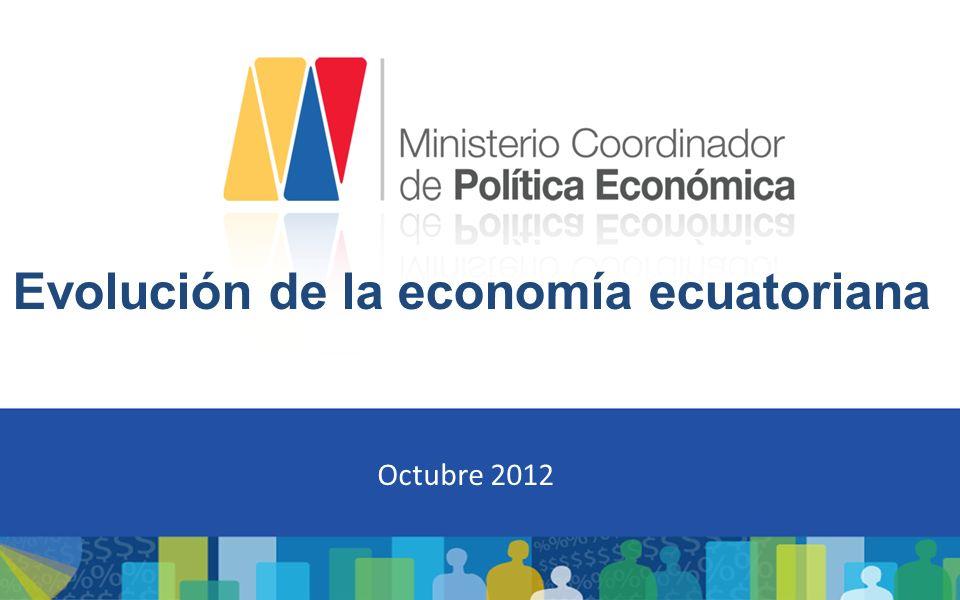 Evolución de la economía ecuatoriana Octubre 2012