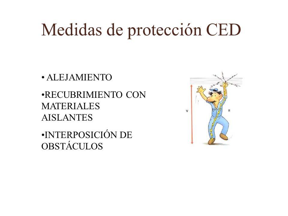 Medidas de protección CED ALEJAMIENTO RECUBRIMIENTO CON MATERIALES AISLANTES INTERPOSICIÓN DE OBSTÁCULOS