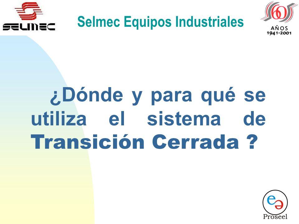 Selmec Equipos Industriales Transición Cerrada. UAUCUB LC LB LA CARGACARGA 52-L 52-U GAGCGB 52-G1 PE 1 52-T La Fuente Principal alimenta a la carga. L
