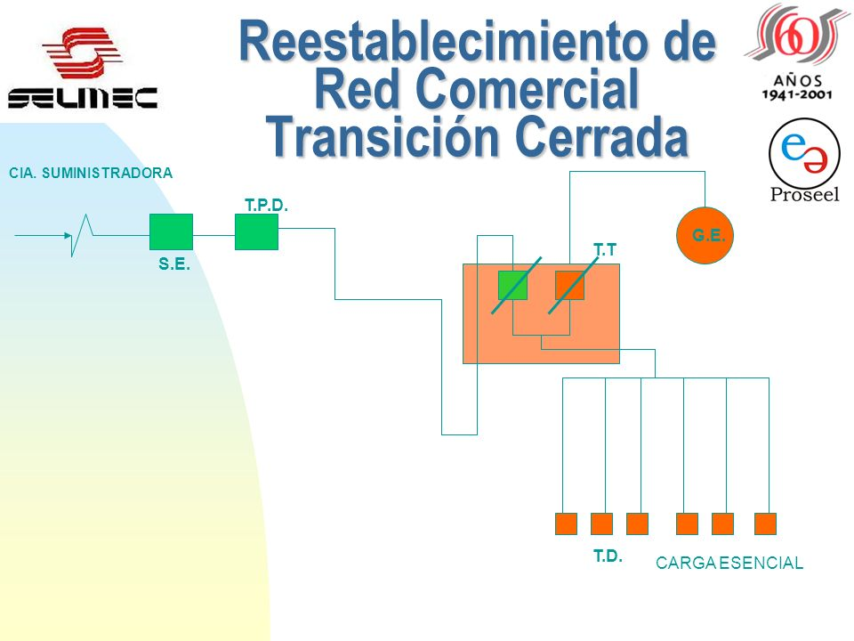 Reestablecimiento de Red Comercial Transición Cerrada S.E. T.P.D. CIA. SUMINISTRADORA G.E. T.T. T.D. CARGA ESENCIAL