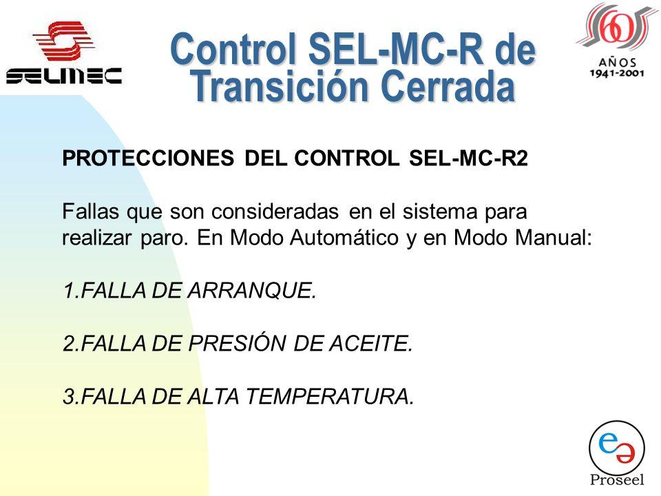 Control SEL-MC-R2 de Transición Cerrada