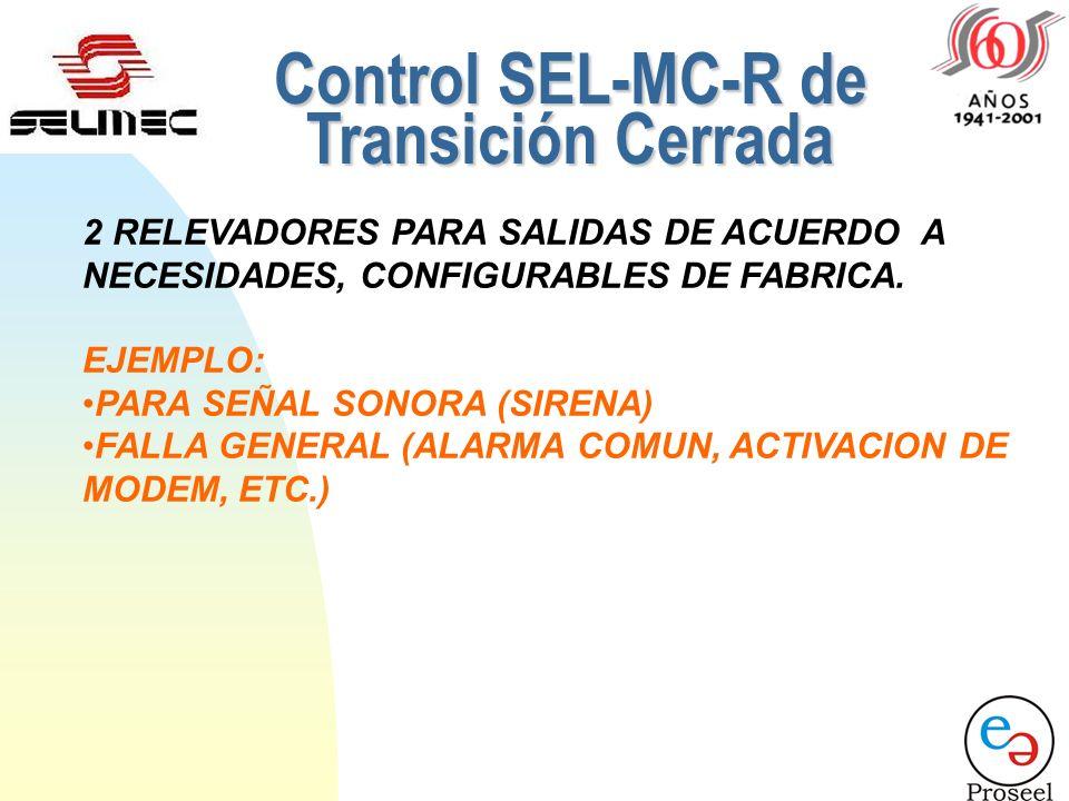 5 ENTRADAS CONFIGURABLES DE FABRICA 7. ENTRADA BAJO VOLTAJE DE BATERIA (ALARMA) 8. ENTRADA PARO DE EMERGENCIA (PARO) 9. ENTRADA DE RELOJ PROGRAMADOR (