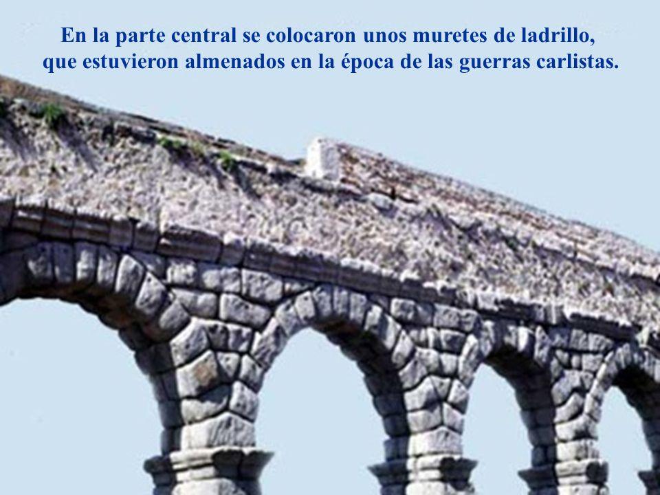 Descripción En la parte central se colocaron unos muretes de ladrillo, que estuvieron almenados en la época de las guerras carlistas.