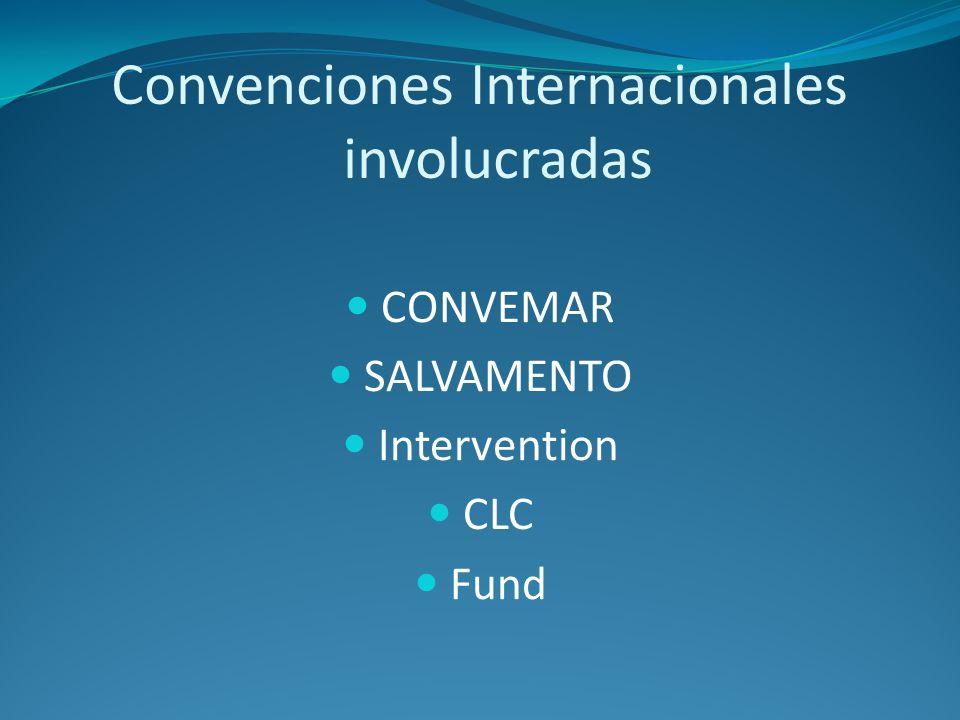 Convenciones Internacionales involucradas CONVEMAR SALVAMENTO Intervention CLC Fund