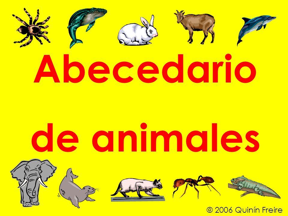 Abecedario de animales © 2006 Quinín Freire