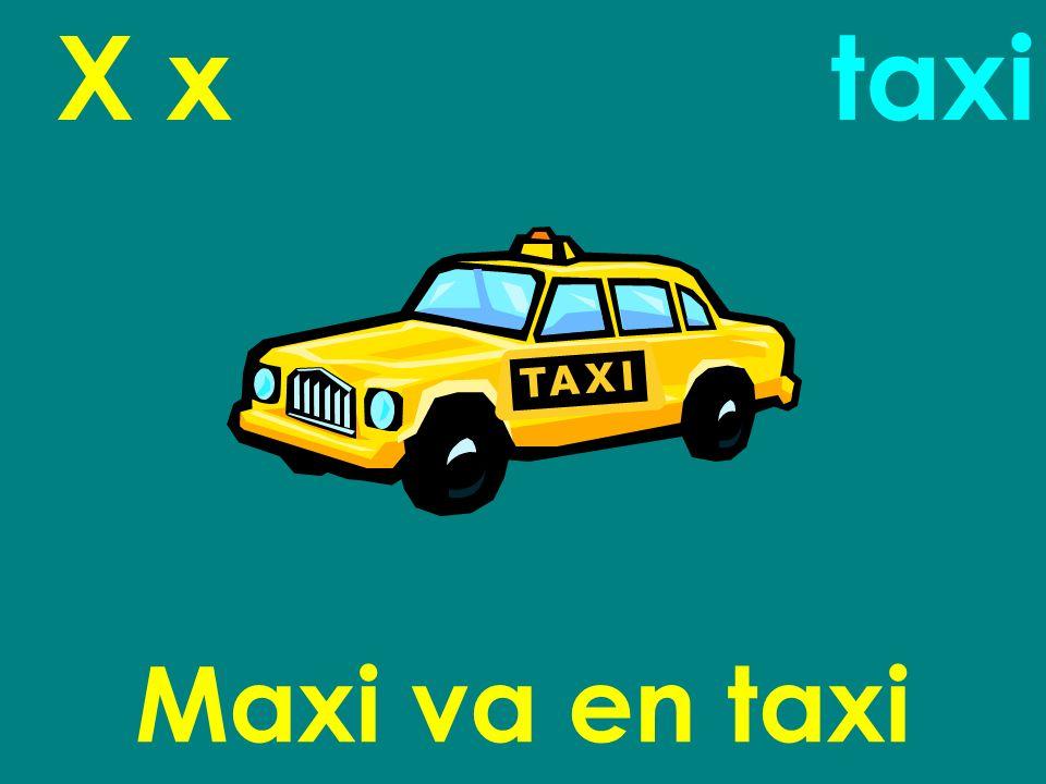 X x Maxi va en taxi taxi
