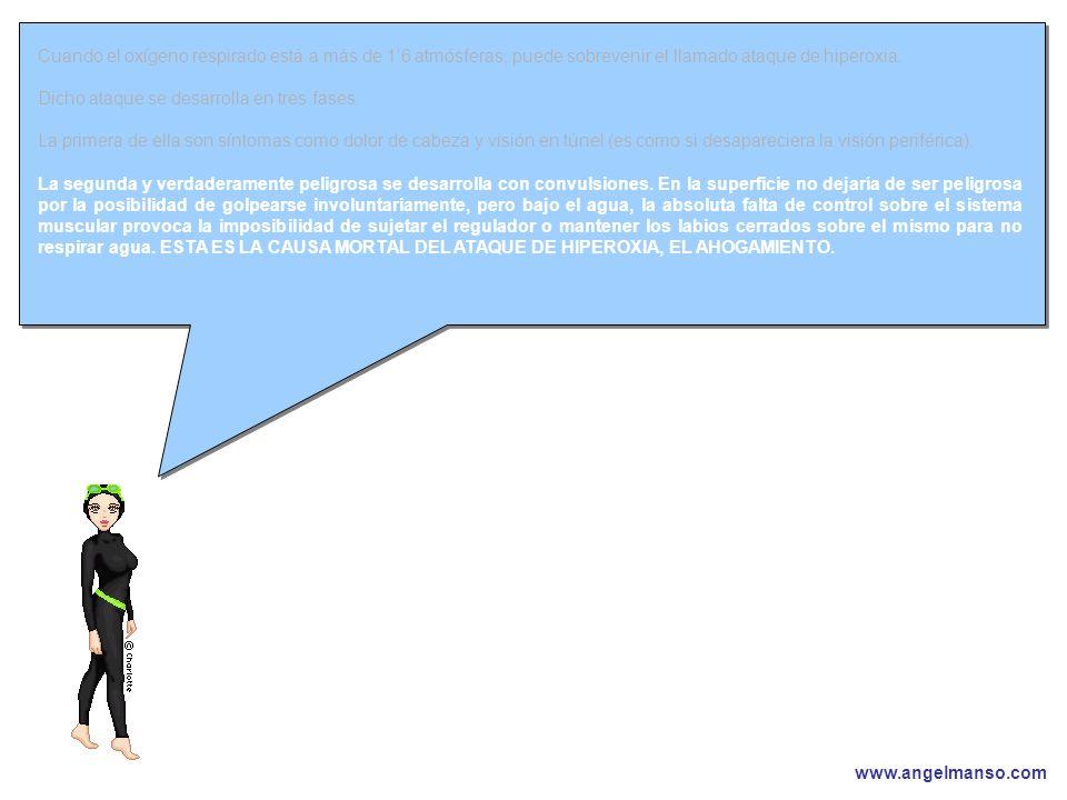 www.angelmanso.com Esta presentación pertenece a Angel Manso Madrid, domingo 1 de octubre de 2006 Cuando el oxígeno respirado está a más de 16 atmósfe
