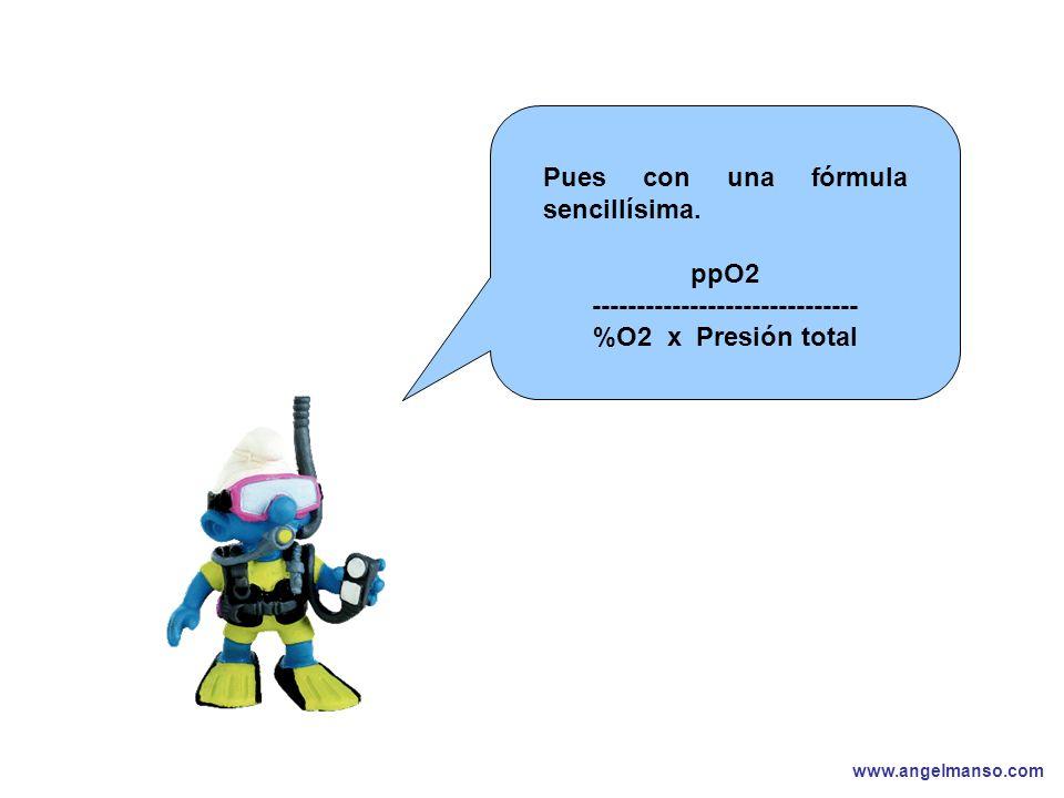 www.angelmanso.com Esta presentación pertenece a Angel Manso Madrid, domingo 1 de octubre de 2006 Pues con una fórmula sencillísima. ppO2 ------------