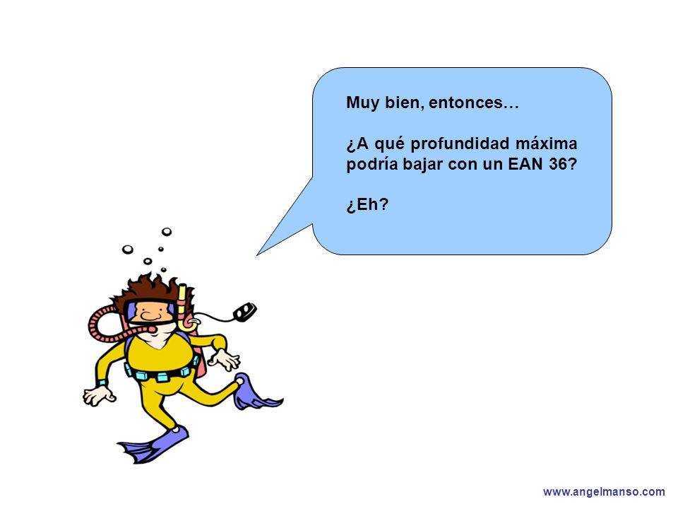 www.angelmanso.com Esta presentación pertenece a Angel Manso Madrid, domingo 1 de octubre de 2006 Muy bien, entonces… ¿A qué profundidad máxima podría bajar con un EAN 36.