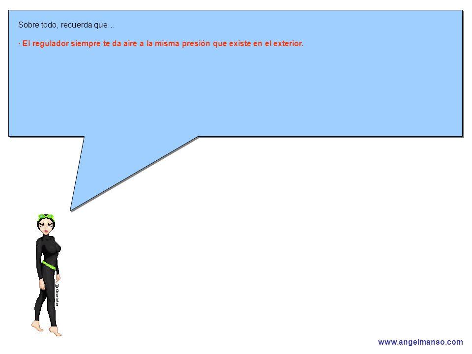 www.angelmanso.com Esta presentación pertenece a Angel Manso Madrid, domingo 1 de octubre de 2006 Sobre todo, recuerda que… · El regulador siempre te da aire a la misma presión que existe en el exterior.