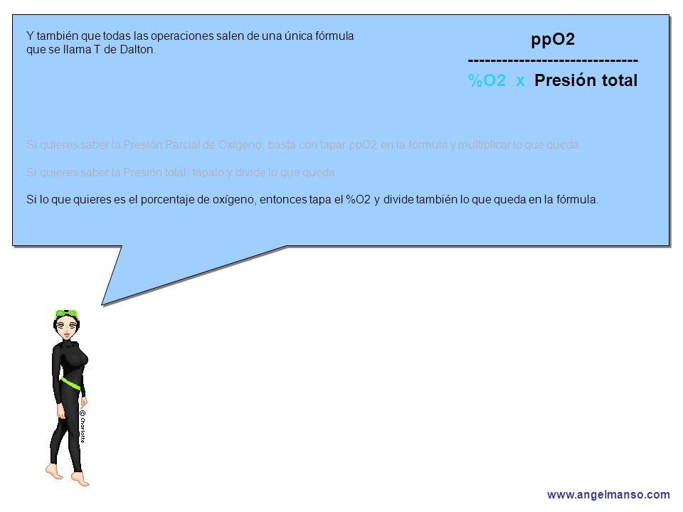 www.angelmanso.com Esta presentación pertenece a Angel Manso Madrid, domingo 1 de octubre de 2006 Y también que todas las operaciones salen de una única fórmula que se llama T de Dalton.