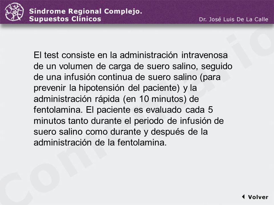 Comentario a la diapo28 El test consiste en la administración intravenosa de un volumen de carga de suero salino, seguido de una infusión continua de