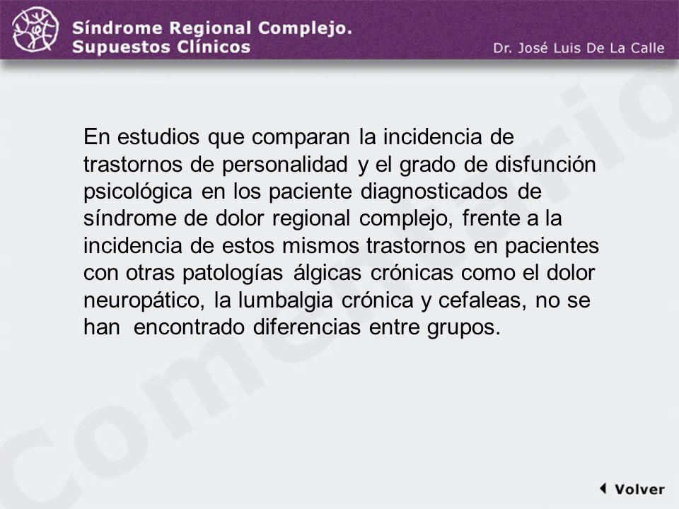 Comentario a la diapo36 En estudios que comparan la incidencia de trastornos de personalidad y el grado de disfunción psicológica en los paciente diag