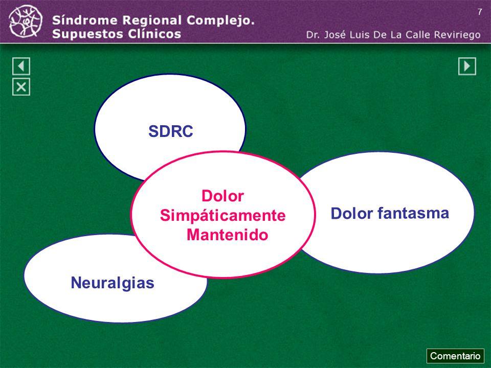 Dolor fantasma Neuralgias SDRC Dolor Simpáticamente Mantenido Comentario 7