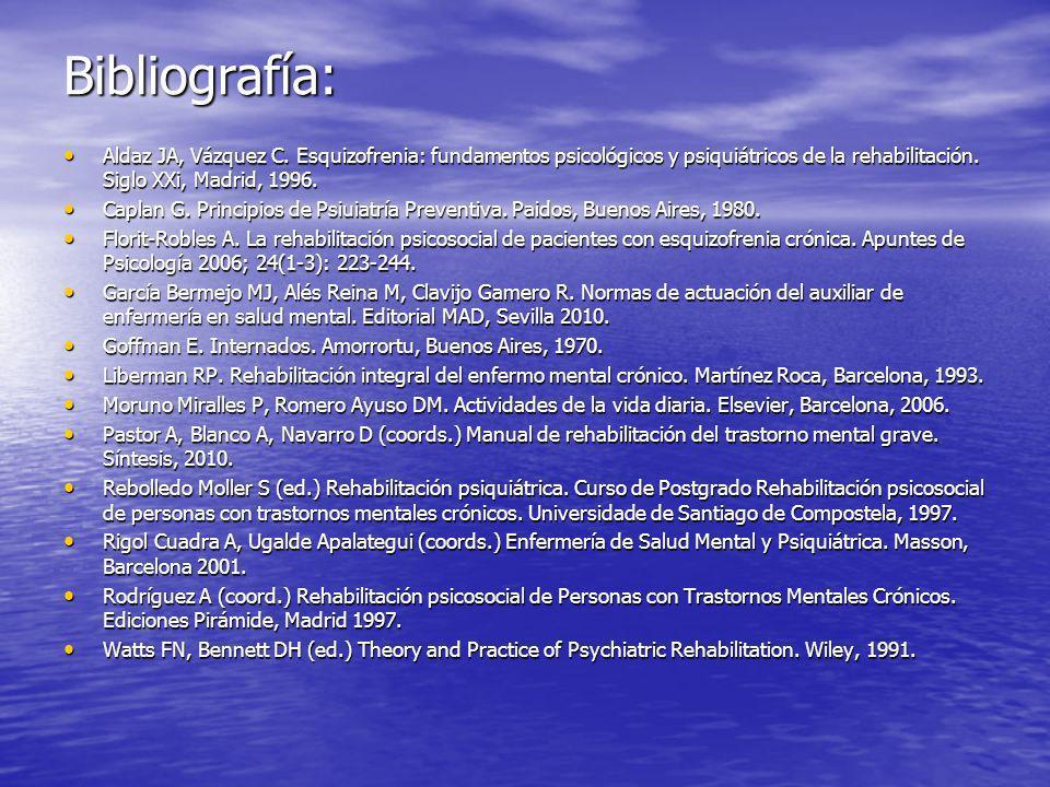 Bibliografía: Aldaz JA, Vázquez C.