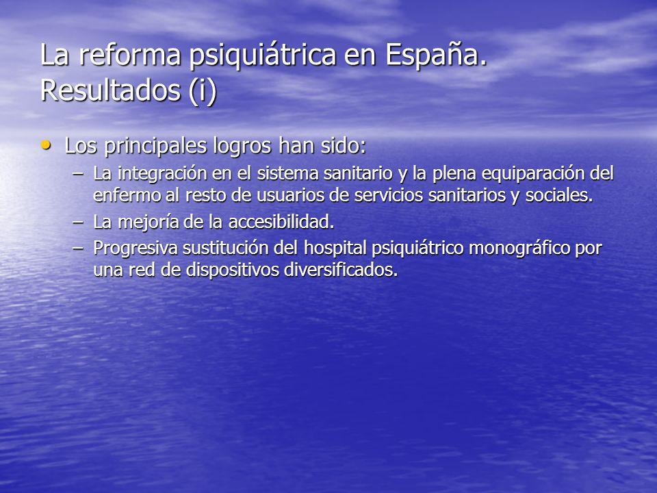 La reforma psiquiátrica en España.