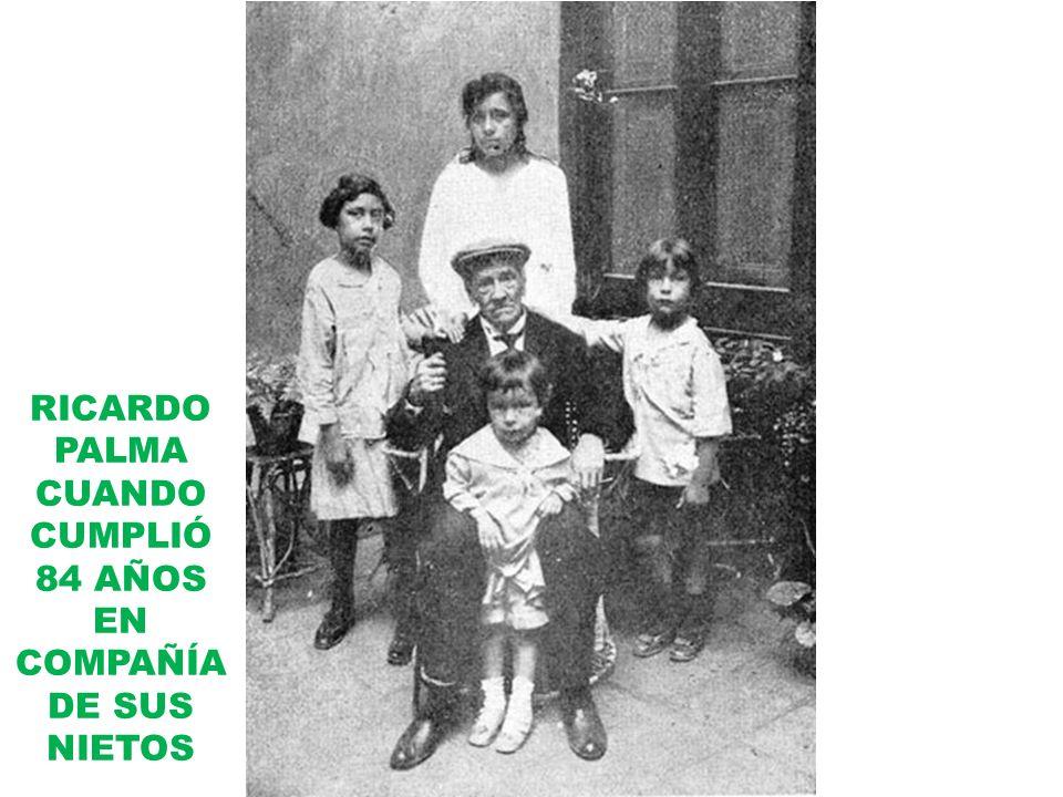 RICARDO PALMA CUANDO CUMPLIÓ 84 AÑOS EN COMPAÑÍA DE SUS NIETOS