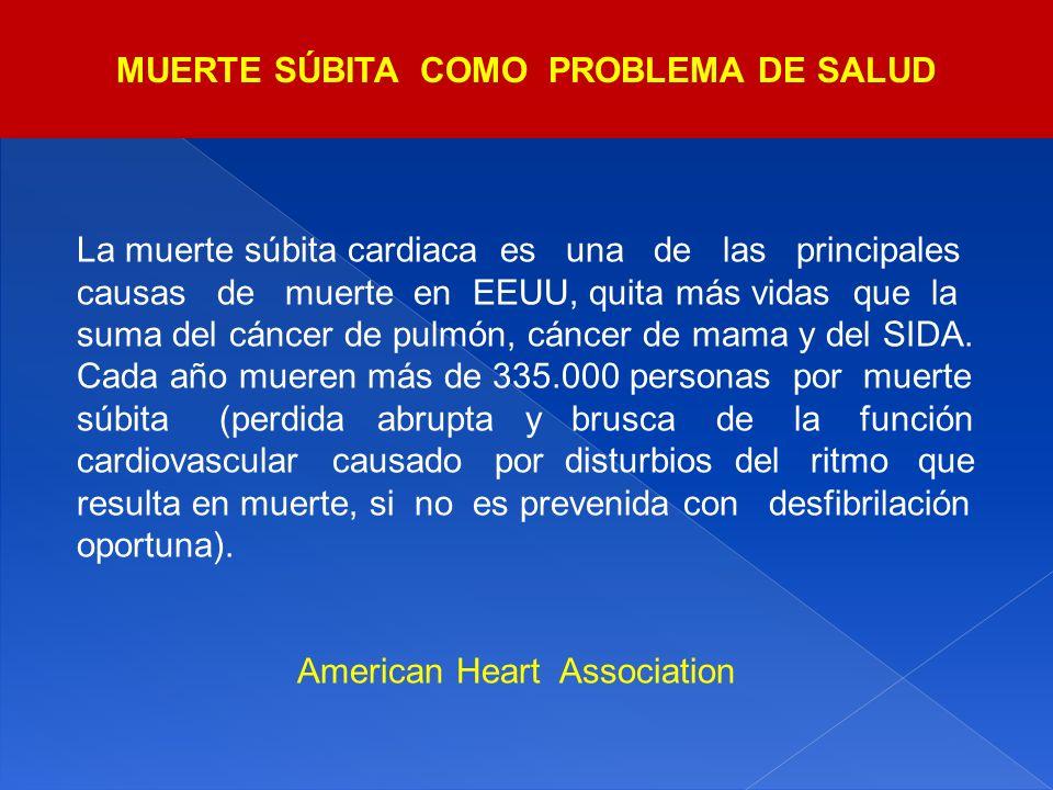 La muerte súbita cardiaca es una de las principales causas de muerte en EEUU, quita más vidas que la suma del cáncer de pulmón, cáncer de mama y del S