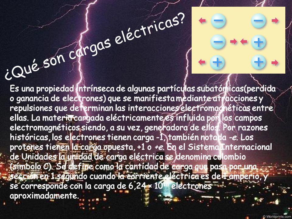 ¿Qué son cargas eléctricas?