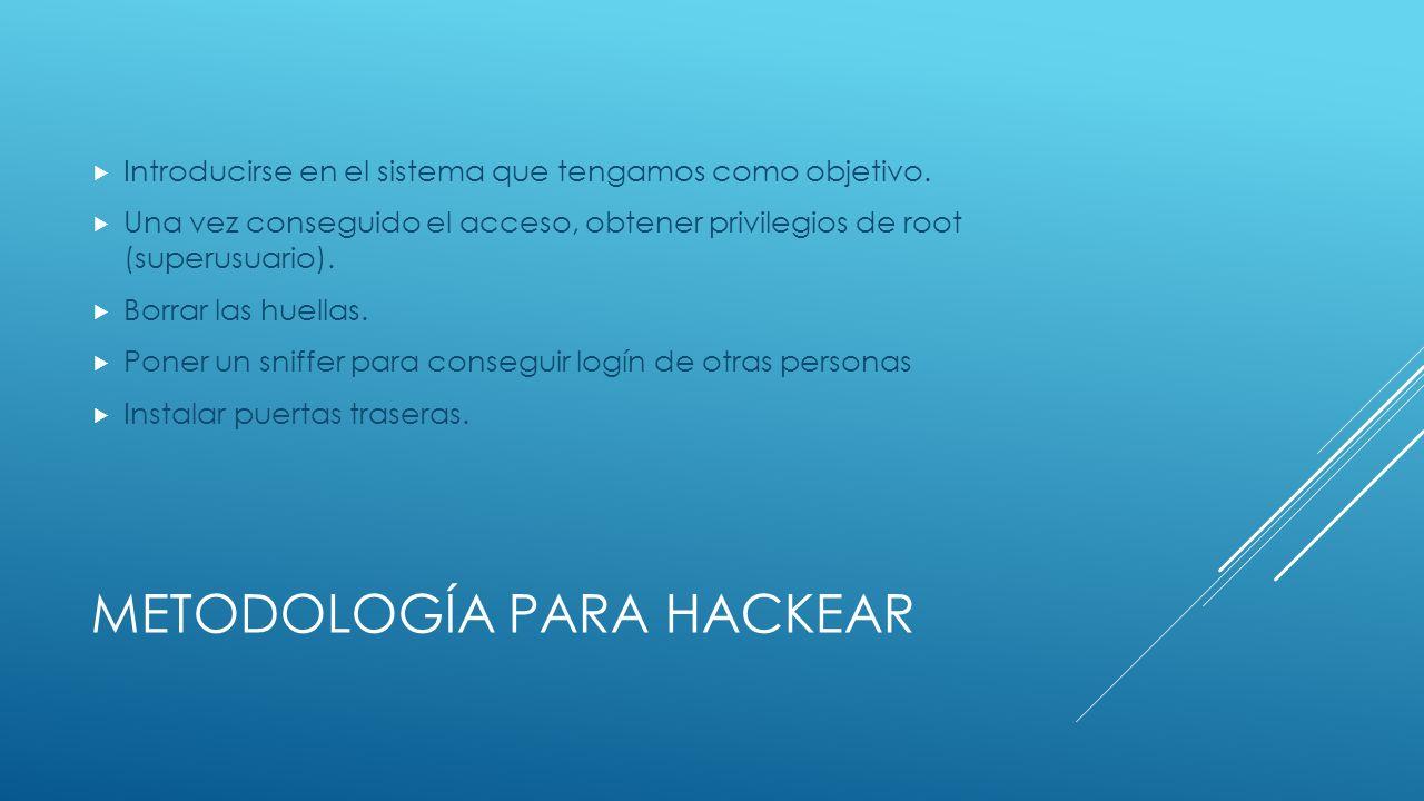TAXONOMÍA HACKER La clasificación general de las actividades de un hacker son catalogadas por la ideología con la que actúan, los colores representan una ideología y un comportamiento.