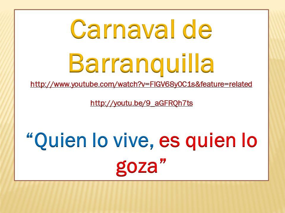 Carnaval de BARRANQUILLA Carnaval de BLANCOS Y NEGROS Feria de CALI Capital mundial de la salsa Primera semana de febrero Durante el 4 de Enero, día d