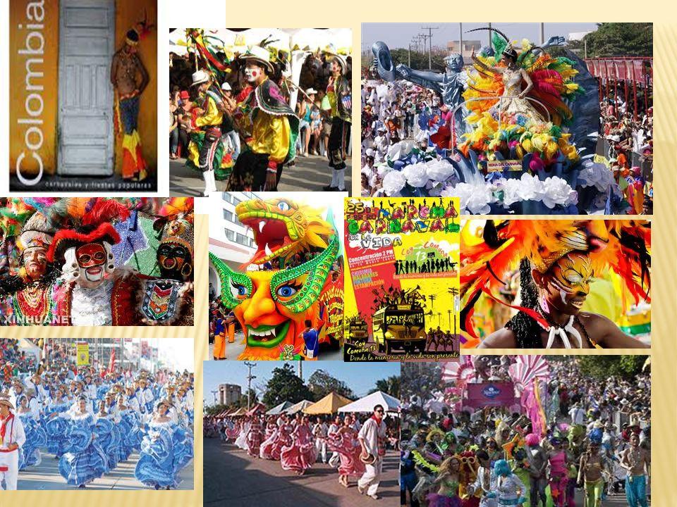 Escribe cuatro frases con palabras que usamos en los carnavales: Mi disfraz es de cumbiambera Nos encanta bailar salsa La mascara de Marimonda es muy alegre Fuimos al desfile de las flores