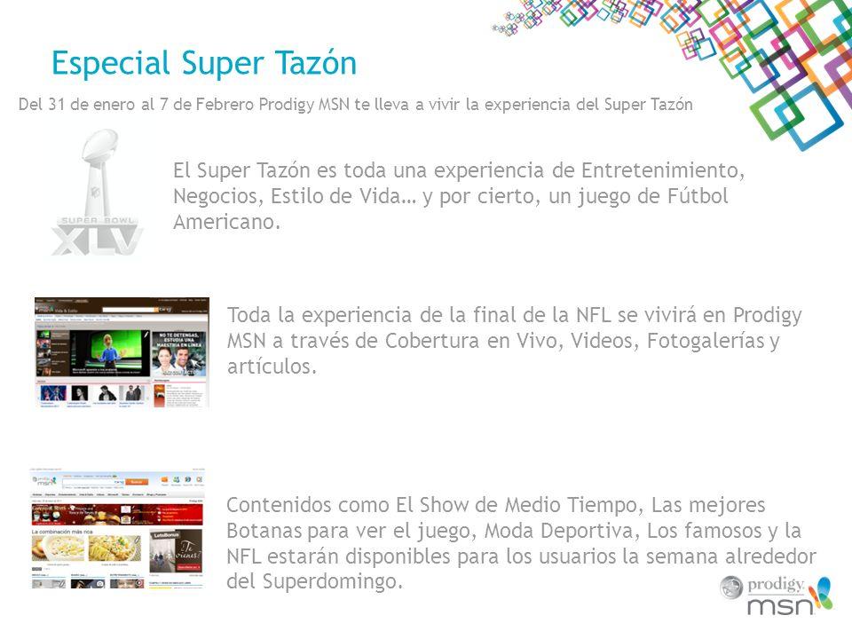 Especial Super Tazón Del 31 de enero al 7 de Febrero Prodigy MSN te lleva a vivir la experiencia del Super Tazón Toda la experiencia de la final de la