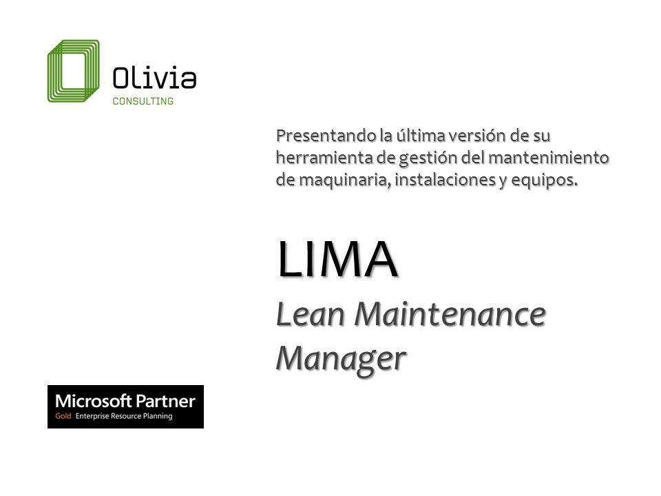 Presentando la última versión de su herramienta de gestión del mantenimiento de maquinaria, instalaciones y equipos. LIMA Lean Maintenance Manager