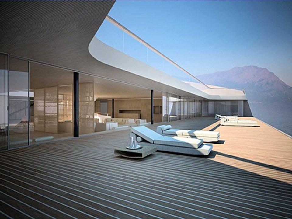 Su área es de 3.400 metros cuadrados Puede acomodar con todo lujo a 12 pasajeros y 20 tripulantes Puede acomodar con todo lujo a 12 pasajeros y 20 tri