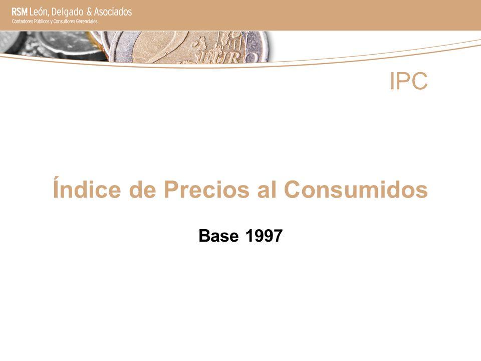 Índice de Precios al Consumidos Base 1997 IPC