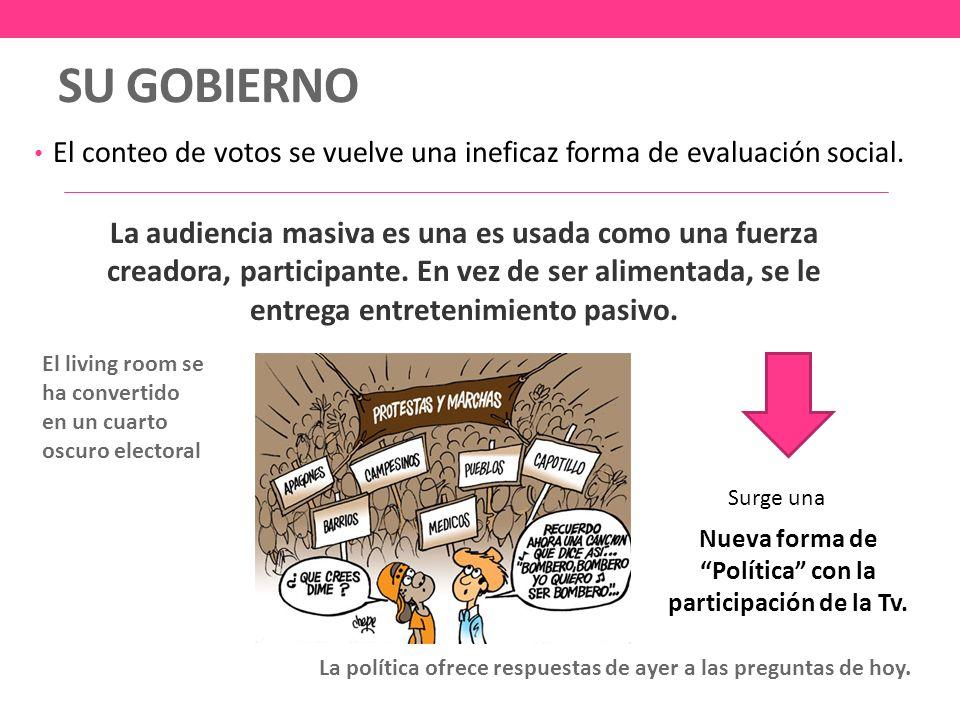 SU GOBIERNO El conteo de votos se vuelve una ineficaz forma de evaluación social.