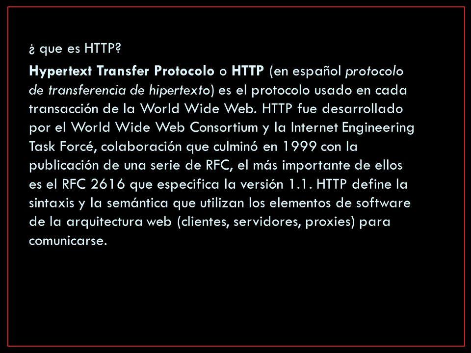 ¿ que es HTTP.
