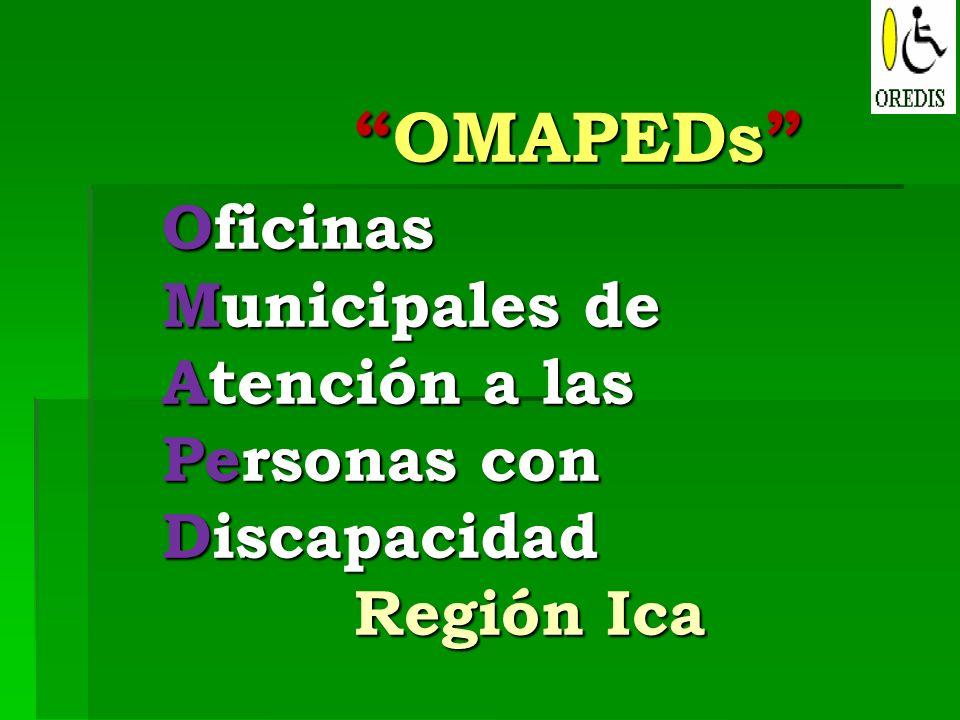 OMAPEDs Oficinas Municipales de Atención a las Personas con Discapacidad Región IcaOMAPEDs Oficinas Municipales de Atención a las Personas con Discapa