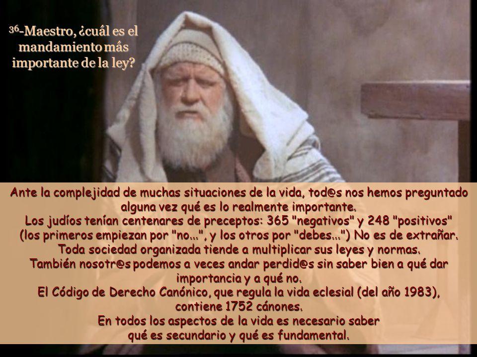 34 Cuando los fariseos oyeron que había tapado la boca a los saduceos, se reunieron, 35 y uno de ellos, experto en la ley, le preguntó para ponerlo a