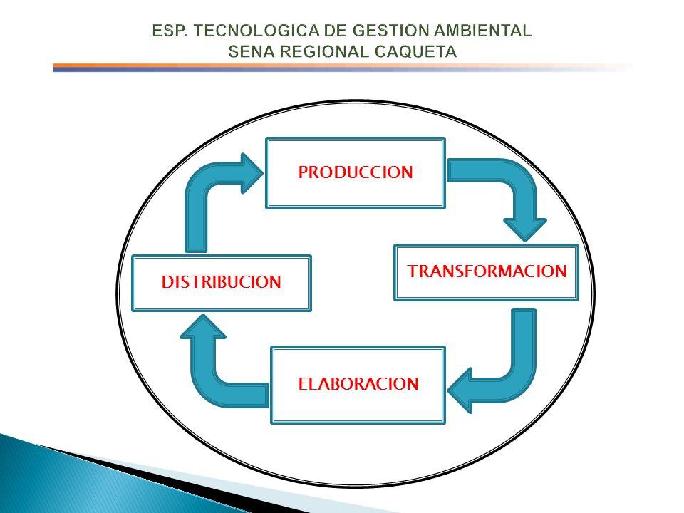 PRODUCCION TRANSFORMACION ELABORACION DISTRIBUCION