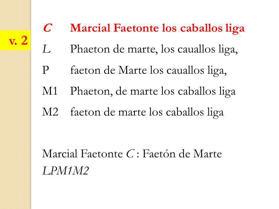 C Marcial Faetonte los caballos liga L Phaeton de marte, los cauallos liga, Pfaeton de Marte los cauallos liga, M1Phaeton, de marte los caballos liga