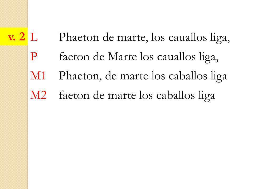 L Phaeton de marte, los cauallos liga, P faeton de Marte los cauallos liga, M1 Phaeton, de marte los caballos liga M2 faeton de marte los caballos lig