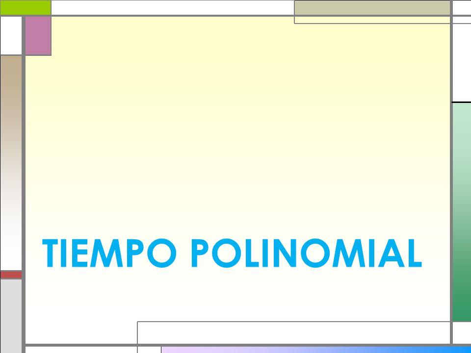 TIEMPO POLINOMIAL