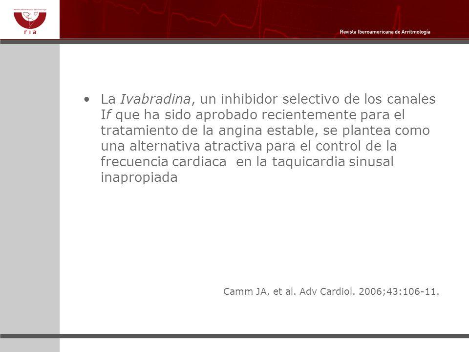 La Ivabradina, un inhibidor selectivo de los canales If que ha sido aprobado recientemente para el tratamiento de la angina estable, se plantea como u