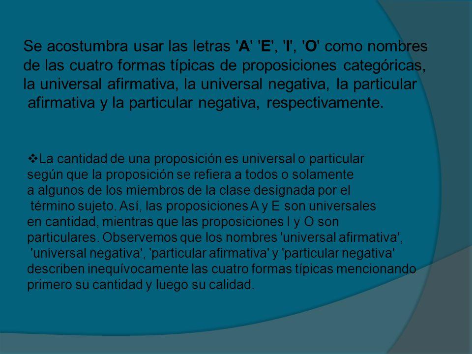 Es la relación que se da cuando dos proposiciones categóricas difieren en calidad y en cantidad al mismo tiempo A E I O