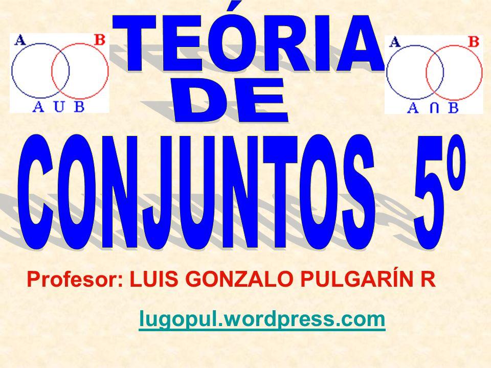 Profesor: LUIS GONZALO PULGARÍN R lugopul.wordpress.com