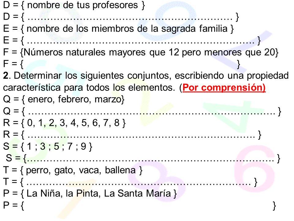 Dado el diagrama completa con el símbolo de pertenece o no pertenece: 1....C 2.....C 1......B 2......B 7.....B 3.....B 6......C 7......C 4....B 4....C 5..